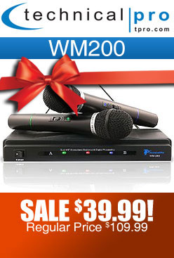 Technical Pro WM200 Dual Wireless Microphone