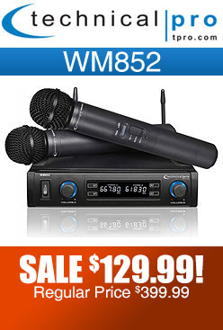 Technical Pro WM852 Dual Wireless Microphone