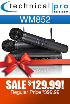 Technical Pro WM852 Dual Wireless Microphone