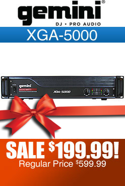 Gemini XGA5000 Power DJ Amplifier