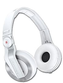 Pioneer HDJ500 White Headphones