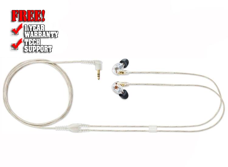 Shure SE425CL Dual Driver Earphones - Clear