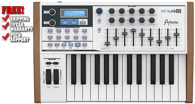 Arturia Keylab 25-Key USB MIDI Keyboard Controller