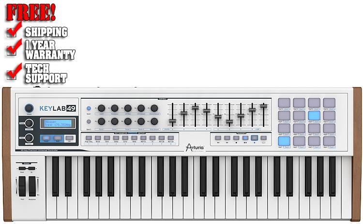 Arturia Keylab 49-Key USB MIDI Keyboard Controller