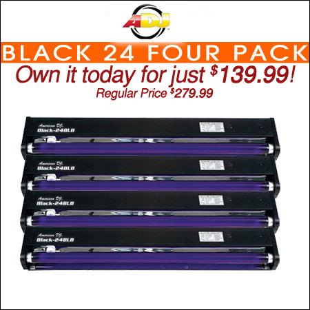 American DJ Black 24 Four Pack
