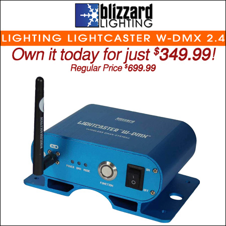 Blizzard Lighting LightCaster W-DMX 2.4 GHz Wireless W-DMX Transceiver