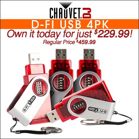 Chauvet DJ D-Fi USB 4 Pack