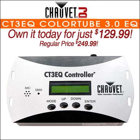 Chauvet CT3EQ COLORtube 3.0 EQ Controller