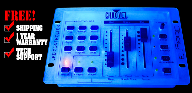 chauvet obey 3 cl dj lighting controller dj lighting chicago dj equipment 123dj. Black Bedroom Furniture Sets. Home Design Ideas
