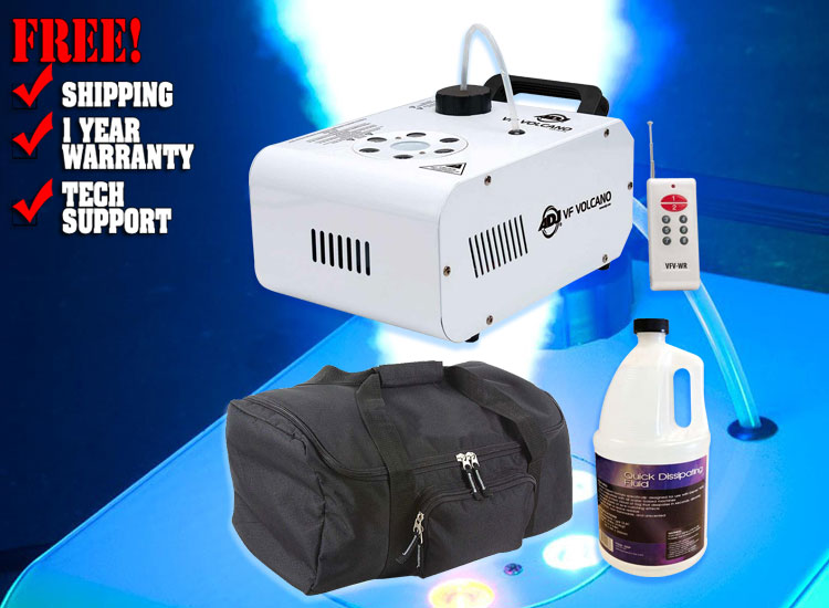 ADJ VF Volcano Vertical Fog Machine Bundle