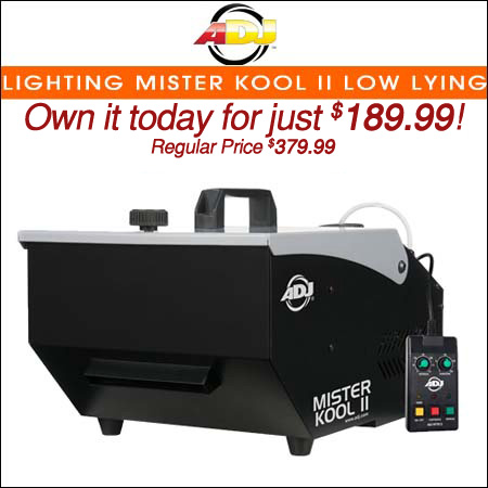 American DJ Lighting Mister Kool II Low Lying Fog Machine
