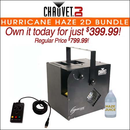 Chauvet Hurricane Haze 2D Bundle