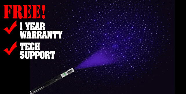 Kaleidoscope Violet Laser Pointer 2 in 1 with Caps