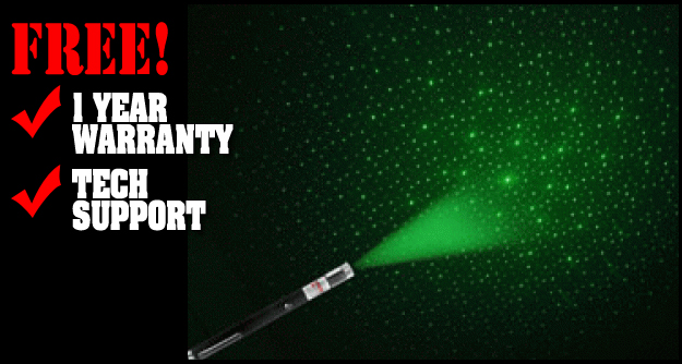 30mW Green 2 in 1 Laser Star Projector