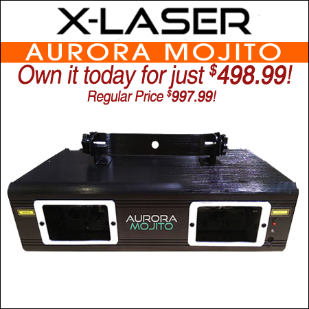 X-Laser Aurora Mojito Green Dual Aperture Aerial Effect Laser System