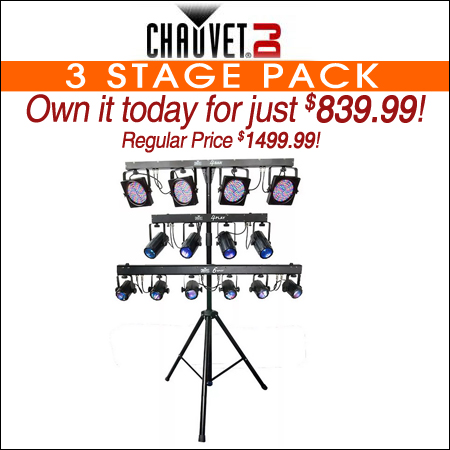 Chauvet 3 Stage Pack