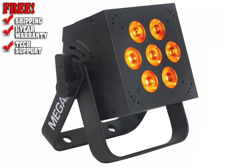 Mega Lite Baby Color H84 Hex 7x12W RGBWA+UV LED Wash Light