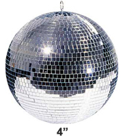 4 Inch Mirrorball