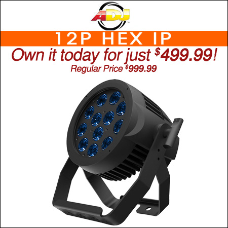 ADJ 12P Hex IP 12x12W RGBAW+UV IP65 Rated LED Par Light