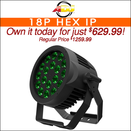 ADJ 18P Hex IP 18x12W RGBAW+UV IP65 Rated LED Par Light