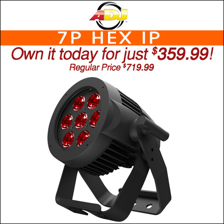 ADJ 7P Hex IP 7x12-Watt RGBAW+UV IP65 Rated LED Par Light