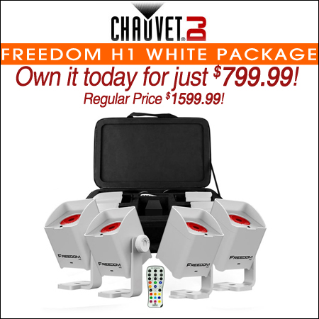 Chauvet DJ Freedom H1 Wash Light System (white) Package