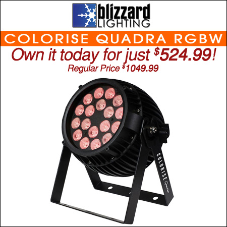 Blizzard Colorise Quadra 18x10-Watt RGBW LED Wash Light