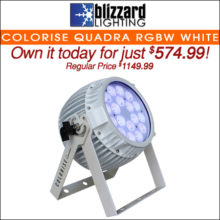 Blizzard Colorise Quadra RGBW White LED Light