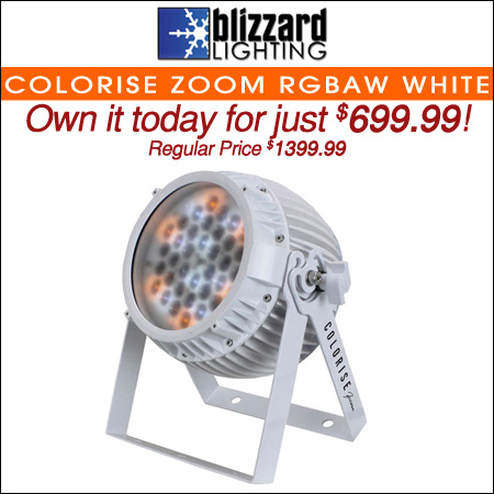 Blizzard Colorise Zoom RGBAW White LED Light