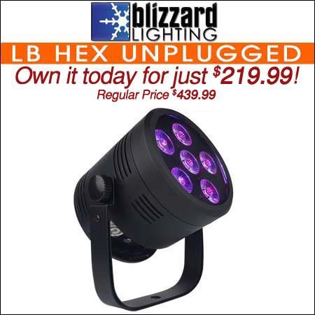 Blizzard Lighting LB Hex Unplugged 6-watt 6-in-1 Battery Powered LED Par