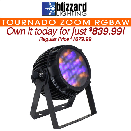 Blizzard Tournado Zoom RGBAW IP65-Rated LED Light