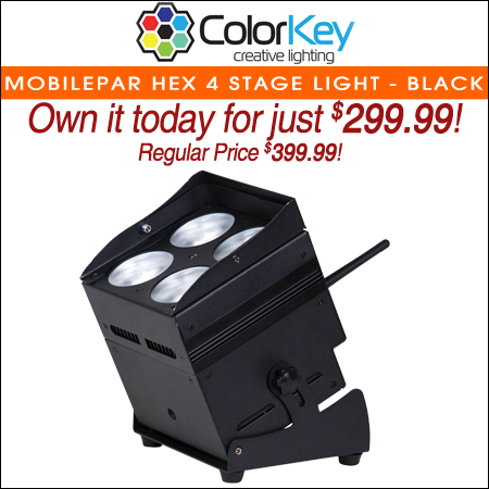 ColorKey MobilePar Hex 4 Stage Light - Black