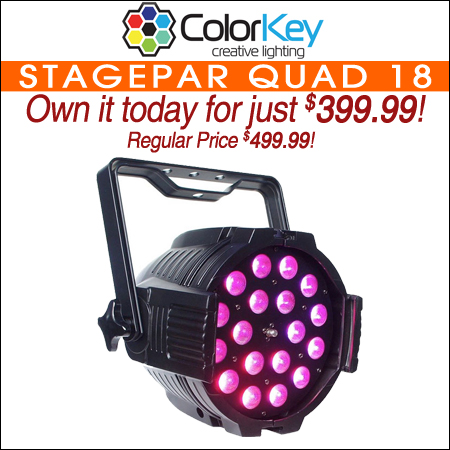 ColorKey StagePar QUAD 18 Zoom Light