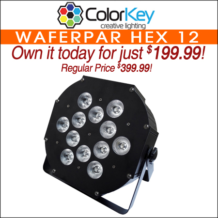ColorKey WaferPar HEX 12 RGBAW+UV LED Wash Light