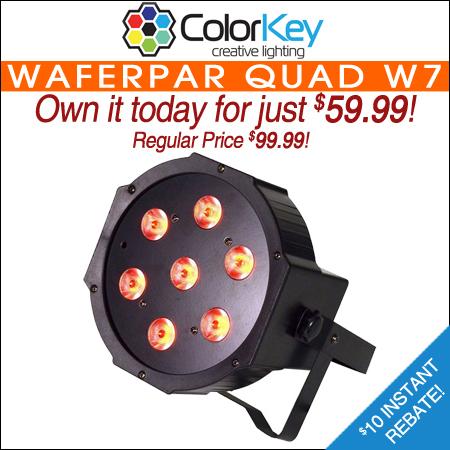 ColorKey WaferPar Quad W7 Stage Light