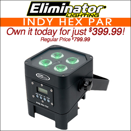 Eliminator Lighting Indy Hex Par