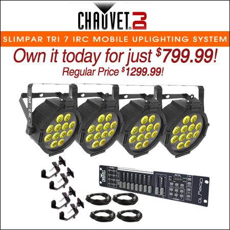 Chauvet SlimPAR Tri 7 IRC Mobile Uplighting System