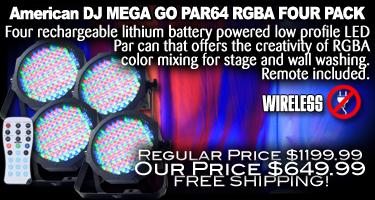 Mega Go Par 64 RGBA Four Pack