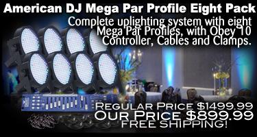 Mega Par Profile Eight Pack