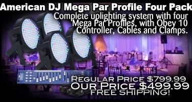 Mega Par Profile Four Pack