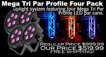 Mega TriPar Profile Four pack