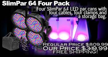 SlimPar 64 Four Pack
