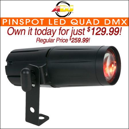 ADJ Pinspot LED Quad DMX Stage Light