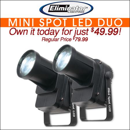 Eliminator Lighting Mini Spot LED Value Pack