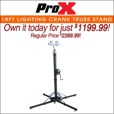 ProX 18ft Lighting Crank Truss Stand Holds 330 lbs