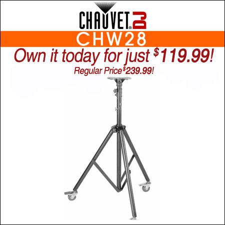 Chauvet DJ CHW28 Followspot Stand w/ Wheels