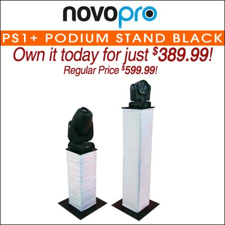 Novopro PS1+ Podium Stand Black