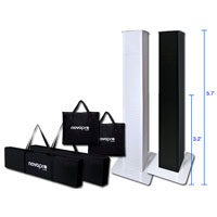 Novopro PS1 XL Adjustable Podium Stands Duo Package