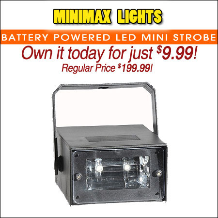 Battery Powered LED Mini Strobe