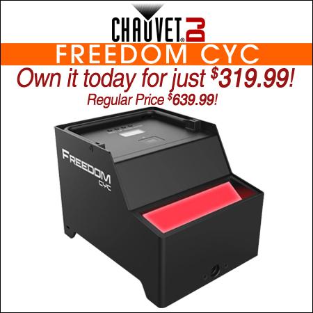 Chauvet DJ Freedom Cyc RGB+WW Wireless Battery Operated Cyclorama